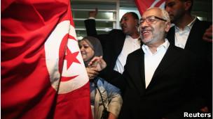 غنوشی رهبر حزب جنبش نهضت