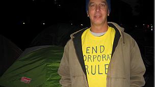 Mark Vosburgh, activista del movimiento Occupy en Washington DC. (Foto: Fernando Peinado).