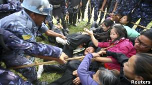 尼泊尔流亡藏人(资料照片)