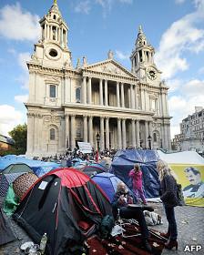 Acampada de protesta anticapitalista en Londres