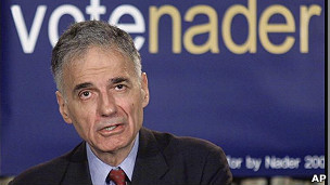 Ralph Nader en las elecciones del 2000.
