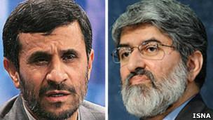علی مطهری و محمود احمدی نژاد