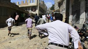 قصف مدفعي في تعز