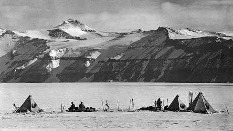 Campamento del capitán Scott en la montaña Buckley