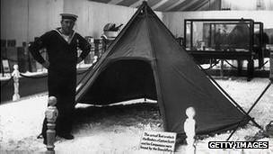 Tienda de campaña de Scott en 1913