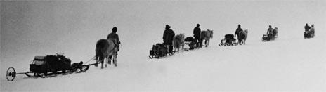 Foto de expedición del capitán Robert Scott.