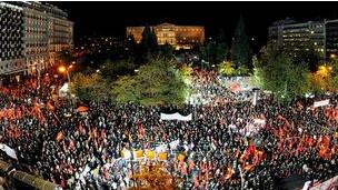 احتجاجات اليونان