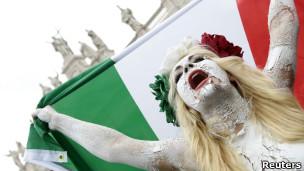 Protesta en Italia.