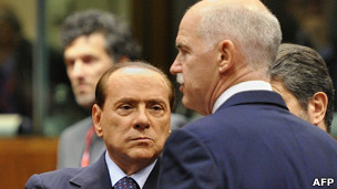 Papandreou y Berlusconi