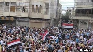 Protesta en Siria
