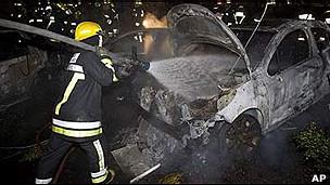 Accidente en el que perdió la vida el exsecretario de Gobernación mexicano Juan Camilo Mouriño.
