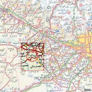نقشه محل پادگان_خبرگزاری ایسنا