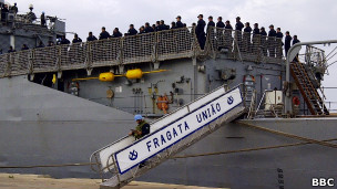 Brazilian warship Union docs in Lebanese capital today to take part in UNIFIL