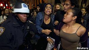 Acampamento do movimento em Oakland (Foto: Reuters)