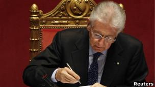 primer ministro de Italia, Mario Monti