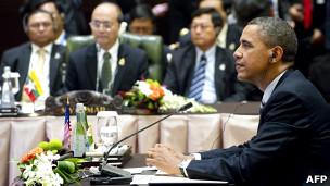 美国总统奥巴马在东盟系列会议上