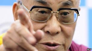 西藏流亡精神领袖达赖喇嘛(07/11/2011)