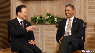 Tổng thống Mỹ Obama và Thủ tướng TQ Ôn Gia Bảo