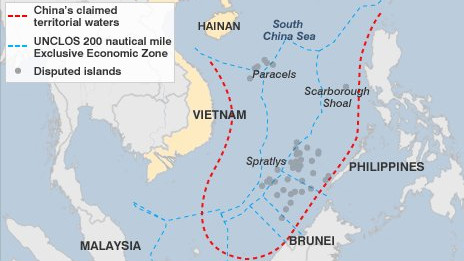 Bản đồ vùng tranh chấp tại Biển Đông