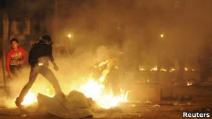 مصادمات في ميدان التحرير