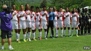 El equipo de futbol de Samoa Americana