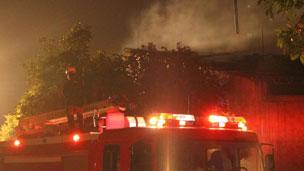 广州市番禺区一个化工厂仓库发生爆炸(24/11/2011)