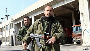 Fuerzas de seguridad gubernamentales en Homs.
