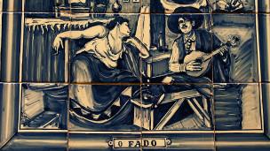 Azulejo português retratando o fado (Foto: Pedro Simões - Wikimedia Commons)