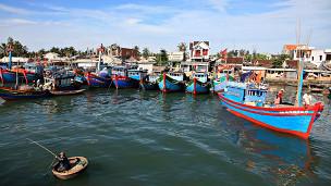 Tàu cá ở đảo Lý Sơn, Quảng Ngãi