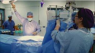 Especialistas en el quirófano