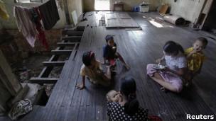 缅甸仰光妇女