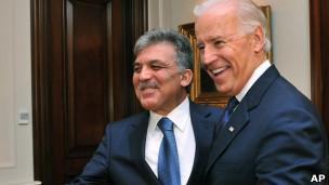 جو بایدن، معاون رئیس جمهوری آمریکا و عبدالله گل