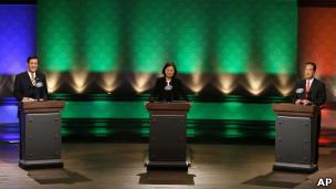 台湾总统选举辩论三方