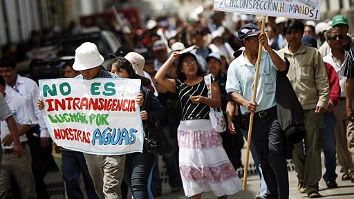 protesta en cajamarca