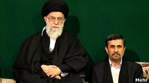 احمدی نژاد و آیت الله خامنه ای