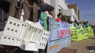 Protestos em Durban - AFP