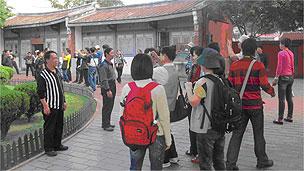 游览台南的中国大陆游客