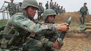 Batallón antidrogas en Colombia en 2000.