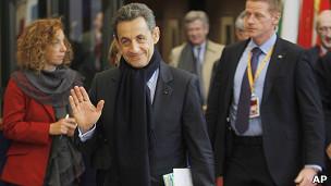 Sarkozy após encontro em Bruxelas