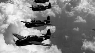 Aviones Avenger, como los desaparecidos en el Triángulo de las Bermudas