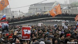 Người biểu tình tại Quảng trường Bolotnaya ở Moscow hôm 10/12