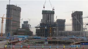 正在兴建中的天津滨海新区于家堡金融区