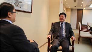 天津人事资源和社会保障局副局长于瑞均接受采访