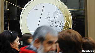 pancarta del euro