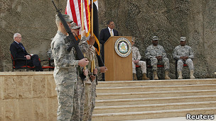 پانهتا در مراسم پایان ماموریت نیروهای آمریکایی
