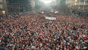 Revolución de Terciopelo, en 1989