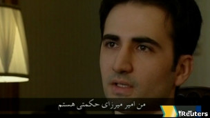 """تصویر امیرمیرزا حکمتی هنگام """"اعتراف"""" در تلویزیون ایران"""