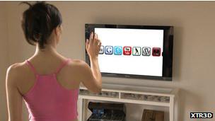 Control virtual del televisor