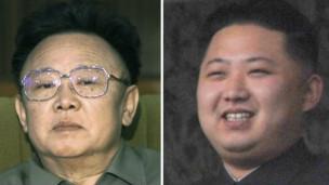 Cha con Kim Jong-il và Kim Jong-un