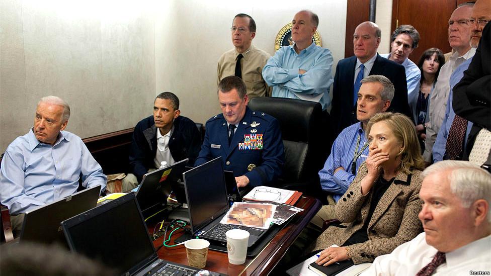 La Casa Blanca durante el operativo contra Osama bin Laden